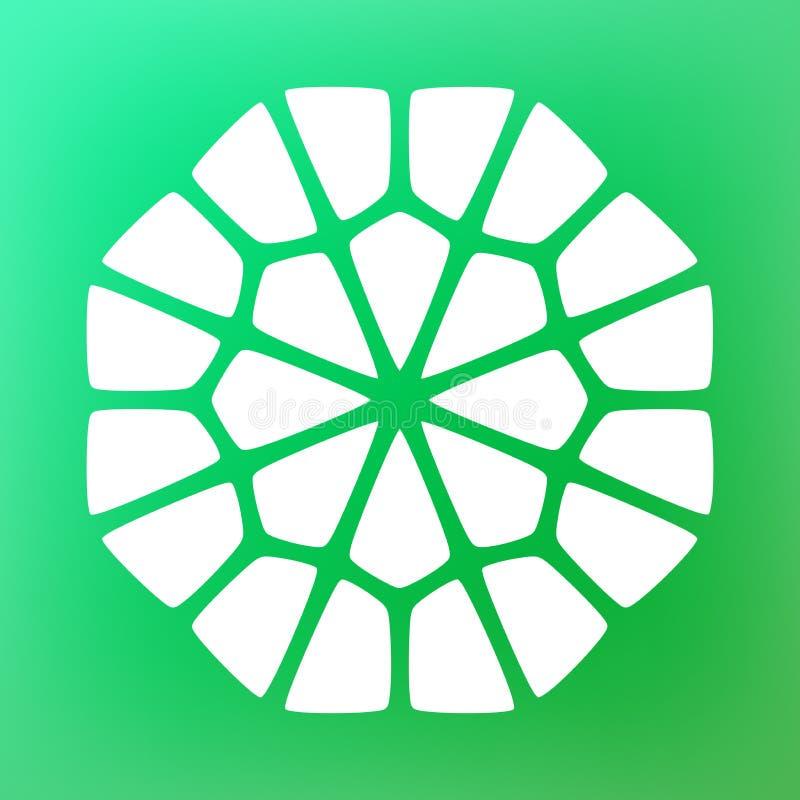 Vecteur Mandala Symbol Ornamental Logo Illustration décorative illustration de vecteur
