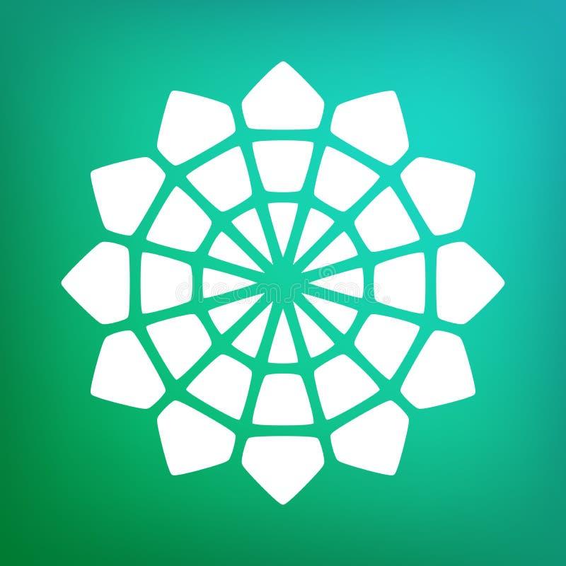 Vecteur Mandala Symbol Ornamental Logo Illustration décorative illustration libre de droits