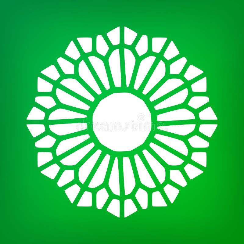 Vecteur Mandala Symbol Ornamental Logo Illustration décorative illustration stock