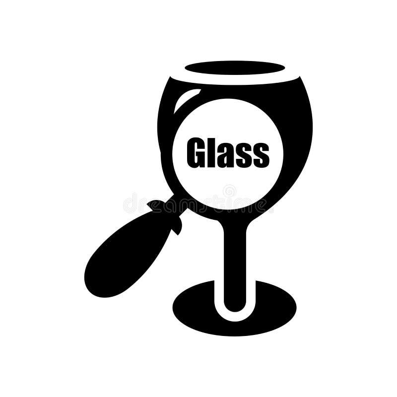 Vecteur matériel en verre d'icône d'isolement sur le fond blanc, M en verre illustration stock