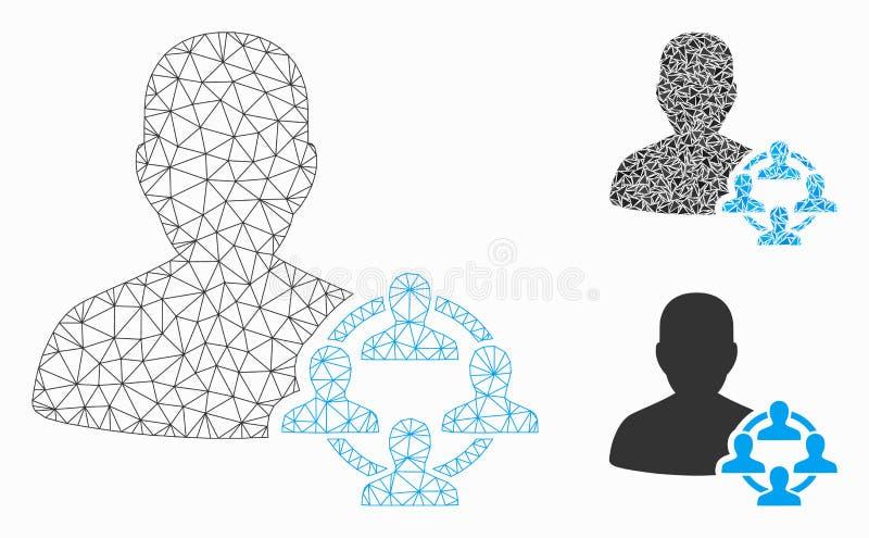 Vecteur Mesh Carcass Model de la politique et icône de mosaïque de triangle illustration stock