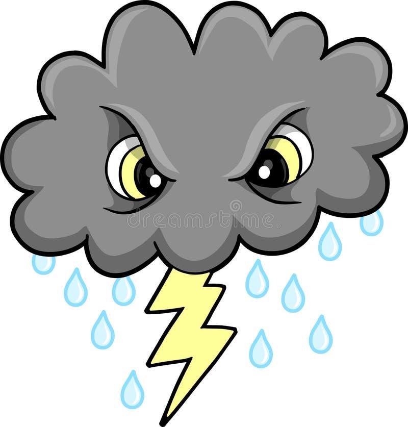 Vecteur mesquin de nuage de tonnerre illustration de vecteur