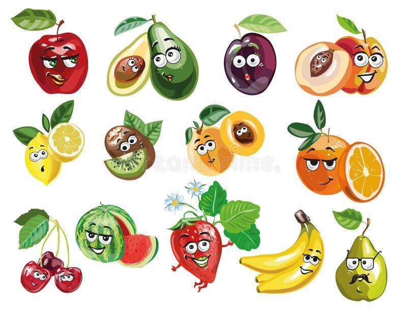 Vecteur mignon de caractères de fruit illustration de vecteur