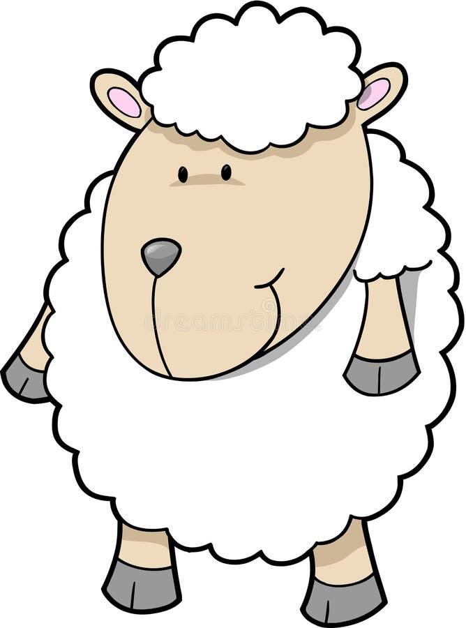 Vecteur mignon de moutons illustration stock