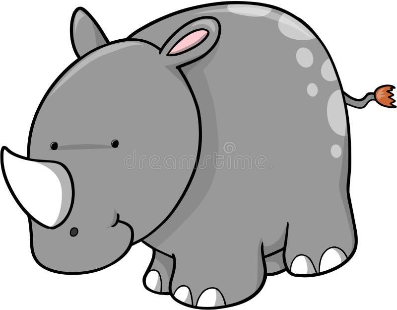 Vecteur mignon de rhinocéros illustration libre de droits
