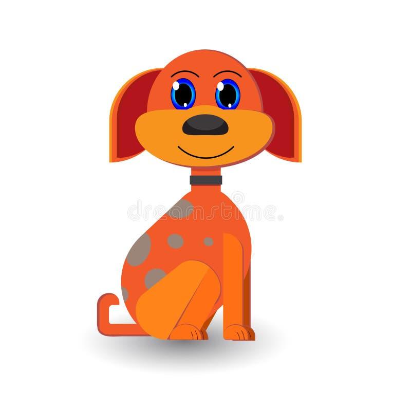 Vecteur mignon M de chien de bande dessinée image stock