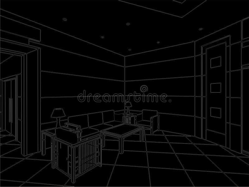 Vecteur moderne 02 de Hall illustration libre de droits