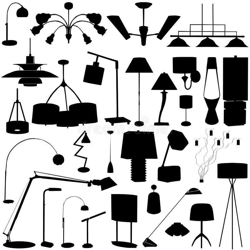 Vecteur moderne d'éclairage illustration stock