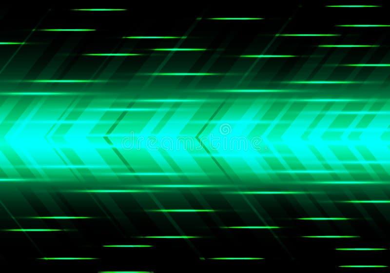 Vecteur moderne futuriste de fond de flèche de vitesse de technologie verte abstraite de puissance illustration stock