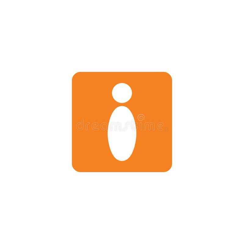 Vecteur négatif simple de logo de l'espace de la lettre i illustration stock