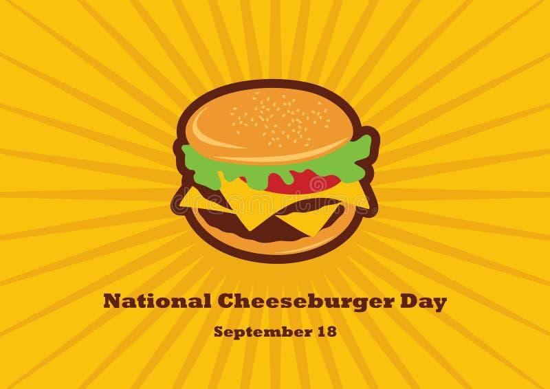Vecteur national de jour de cheeseburger illustration stock