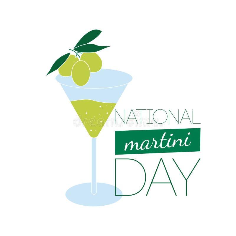 Vecteur national de jour de Martini illustration de vecteur