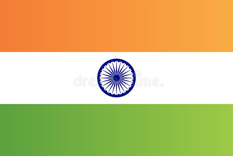 Vecteur national indien de format document de drapeau de pays illustration libre de droits