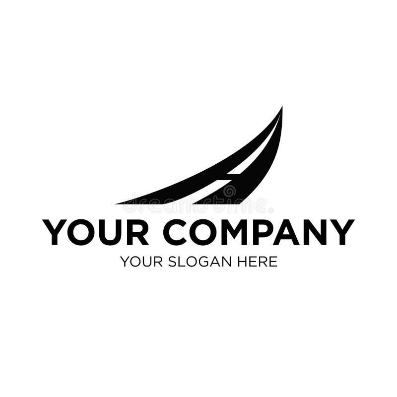 Vecteur noir de Logo Letter A pour la rue de manière de route d'affaires/société photo stock