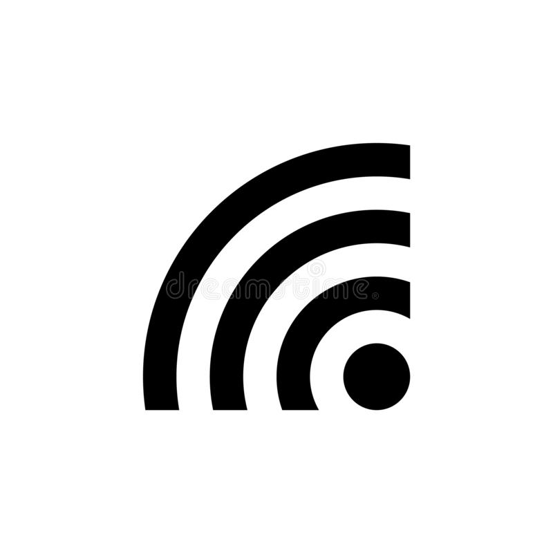 Vecteur noir eps10 d'icône de WI fi Signe de Wi-Fi Vecteur d'icône de WIFI, signe sans fil d'Internet illustration libre de droits