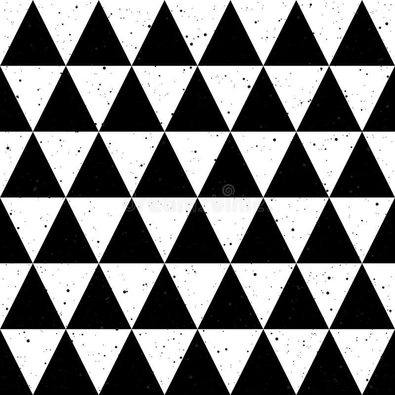 Vecteur noir et blanc de triangle de fond sans couture illustration de vecteur