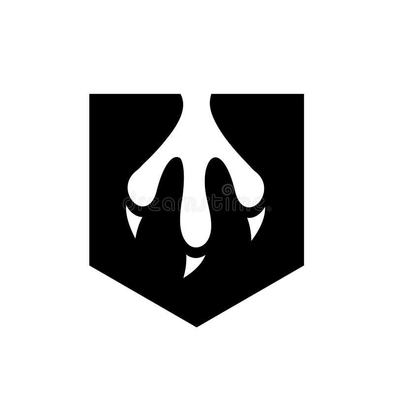 Vecteur noir Logo Design de griffe illustration libre de droits
