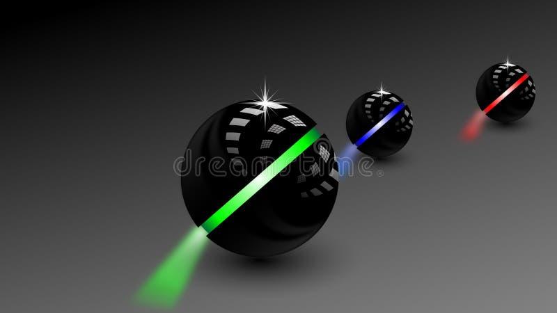 vecteur noir moderne de boule de la sphère 3d illustration stock