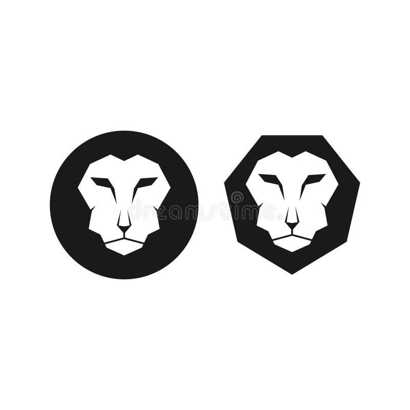 Vecteur noir simple de Lion Head Icon /Symbol images libres de droits