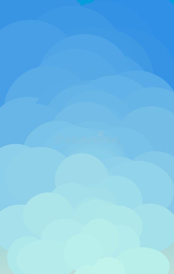 Conception nuageuse de vecteur illustration de vecteur