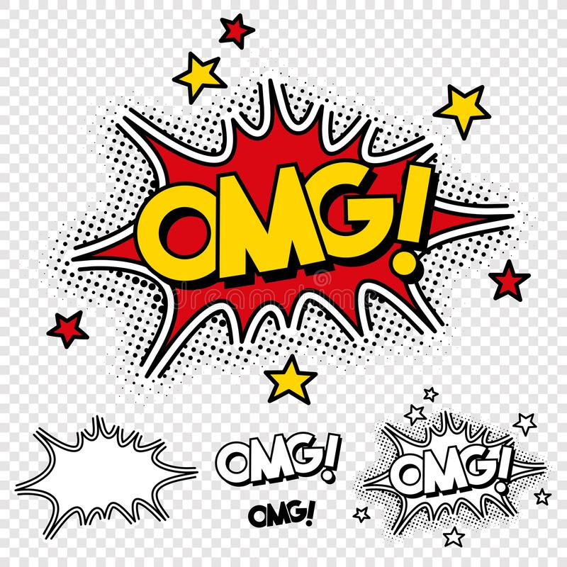 Vecteur oh mon illustration comique de Dieu illustration de vecteur