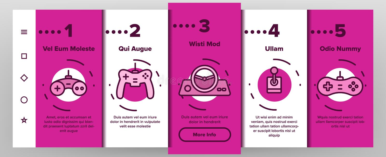 Vecteur Onboarding de manette de jeu illustration libre de droits