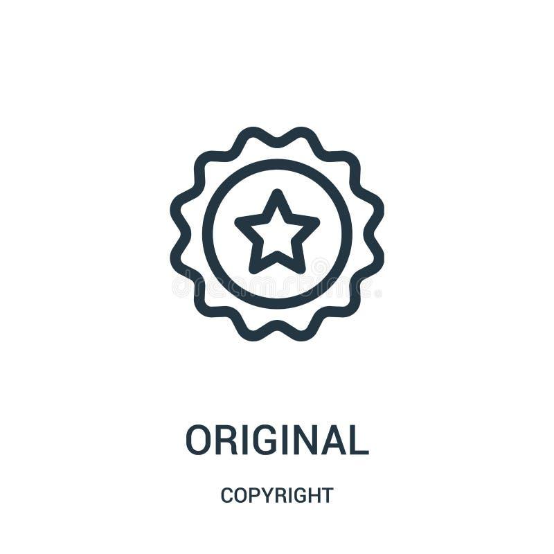 vecteur original d'icône de collection de copyright Ligne mince illustration de vecteur d'icône d'ensemble d'original illustration libre de droits