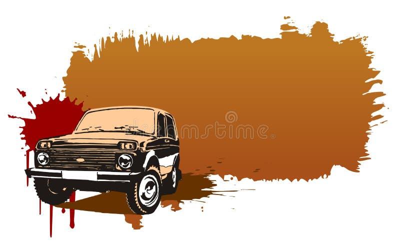 Vecteur outre du véhicule routier 4x4 illustration libre de droits