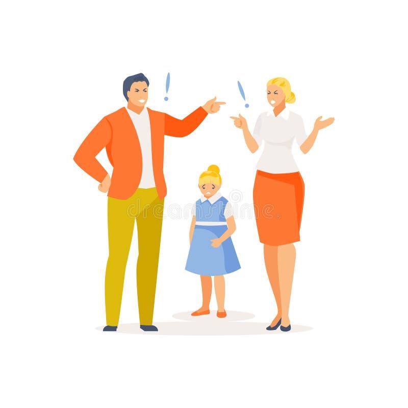 Vecteur parental de querelle illustration libre de droits
