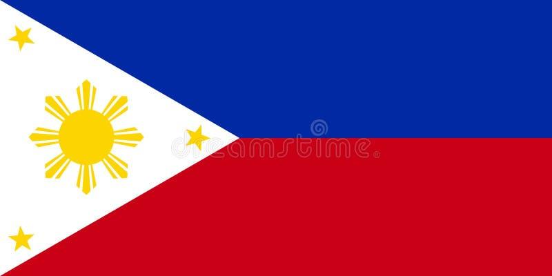 Vecteur philippin de drapeau illustration libre de droits