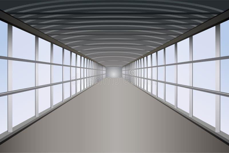 Vecteur piétonnier de tunnel illustration stock
