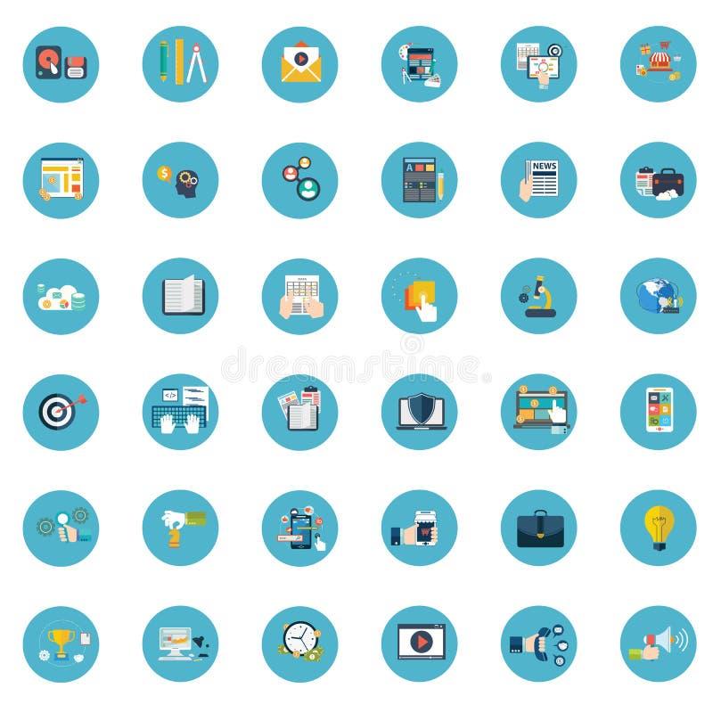 Vecteur plat d'affaires d'icône sur le fond image libre de droits