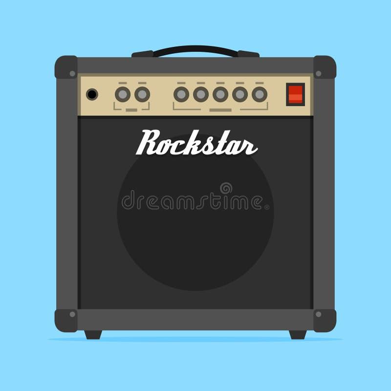 Vecteur plat d'amplificateur d'ampère de guitare illustration libre de droits