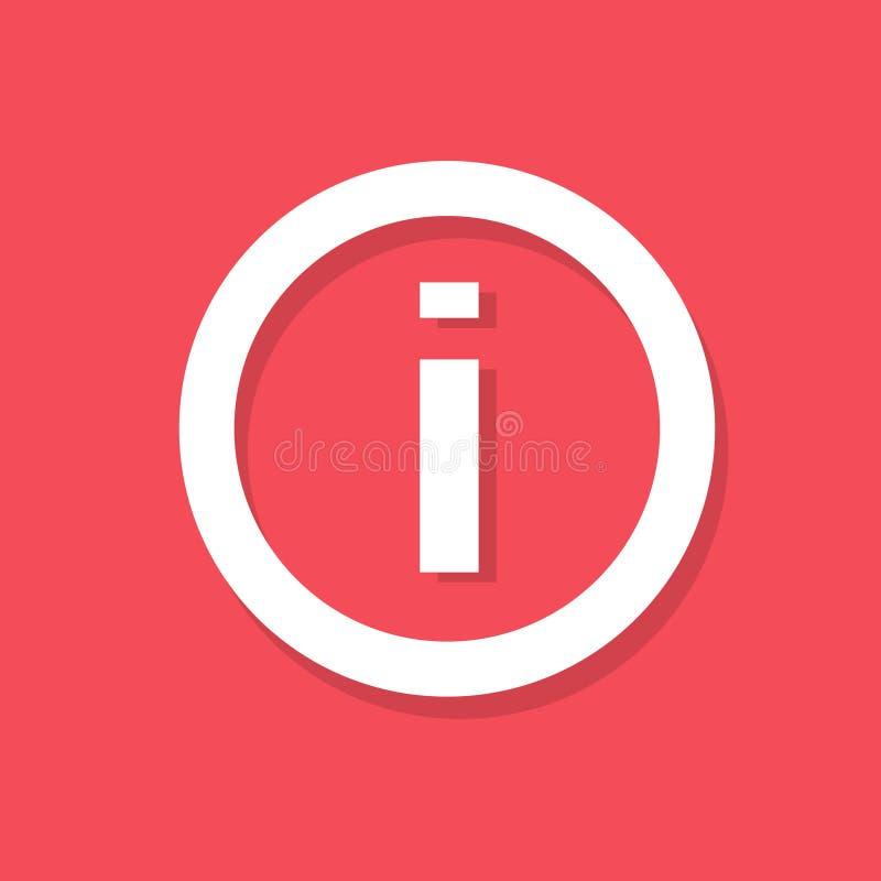 Vecteur plat de conception d'icône du signe i d'infos illustration stock