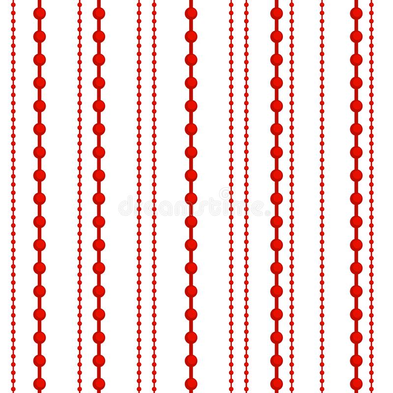 Vecteur plat de conception de modèle de boule de Noël d'hiver de vacances de Noël de décoration de sphère de festival coloré sans illustration stock