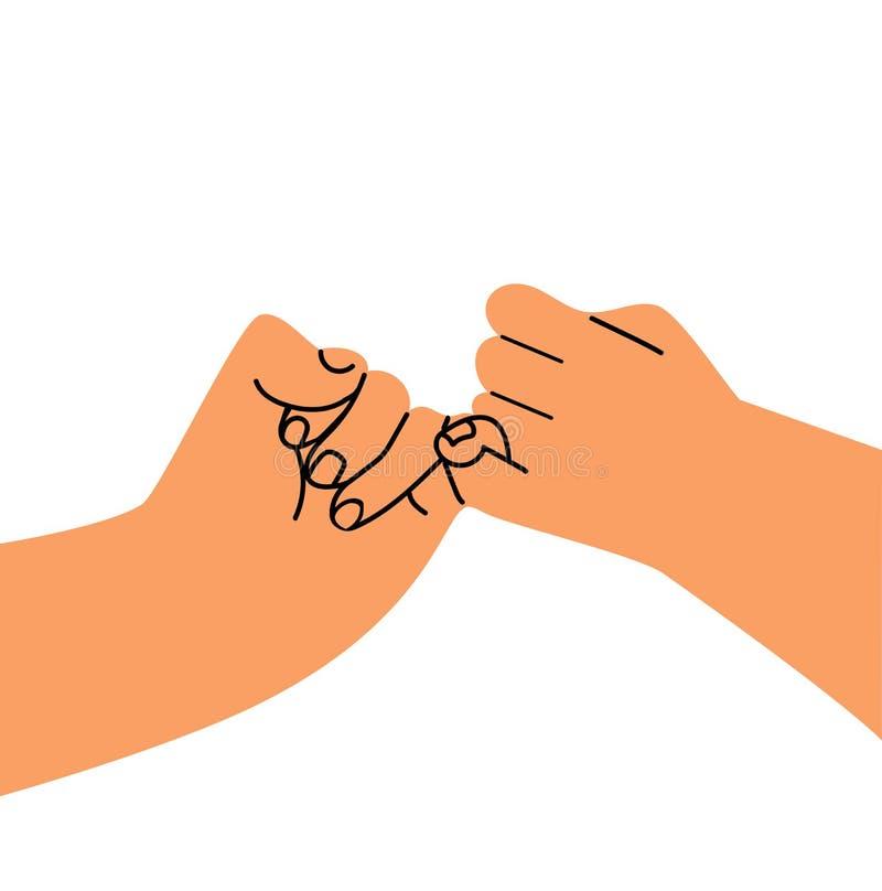 Vecteur plat de conception de promesse de participation de main illustration de vecteur