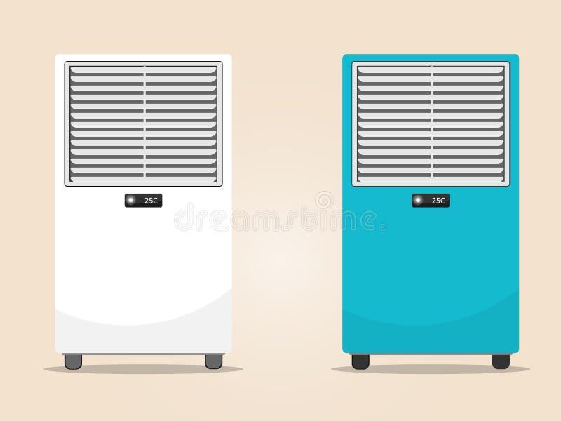 Vecteur plat de plancher de refroidisseur d'air illustration stock