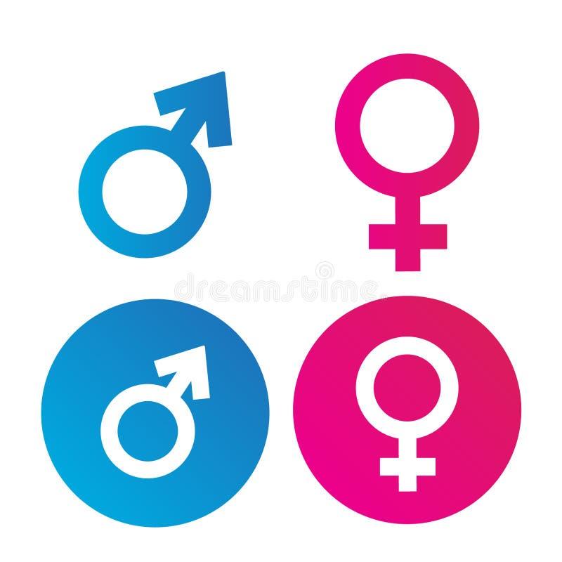 Vecteur plat de symbole masculin et femelle image stock