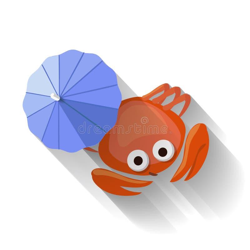 Vecteur plat moderne d'icône de crabe de conception illustration libre de droits