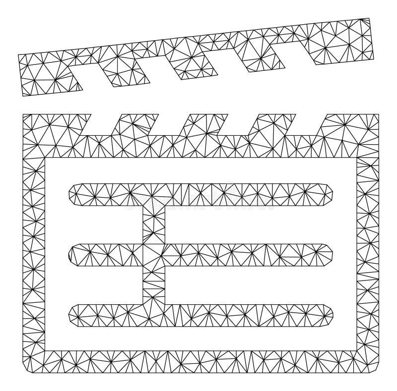 Vecteur polygonal Mesh Illustration de cadre de bardeau illustration de vecteur