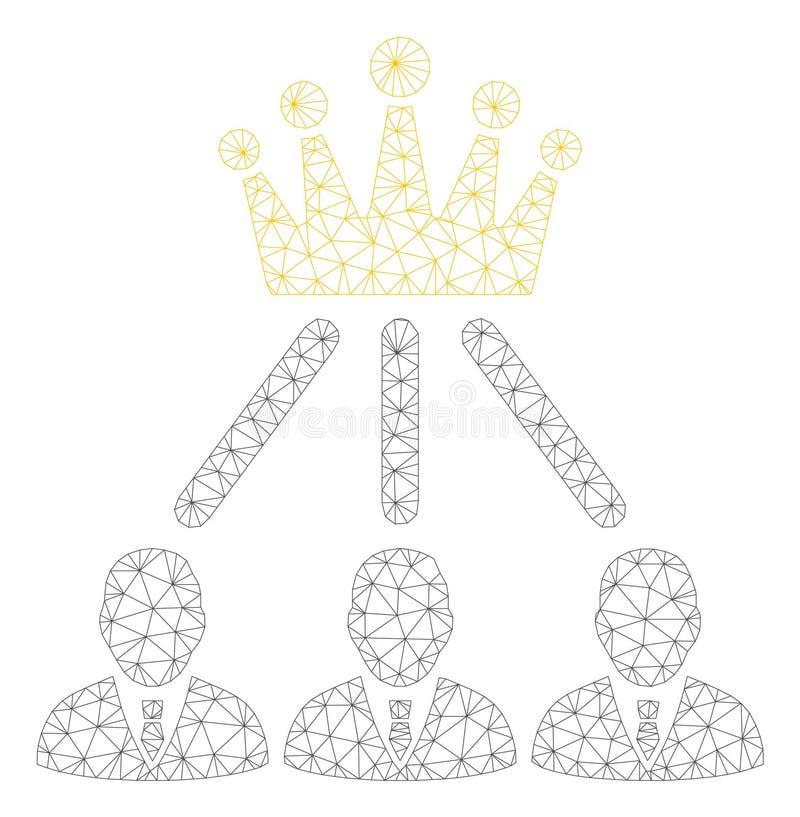 Vecteur polygonal Mesh Illustration de cadre de couronne d'administration illustration stock