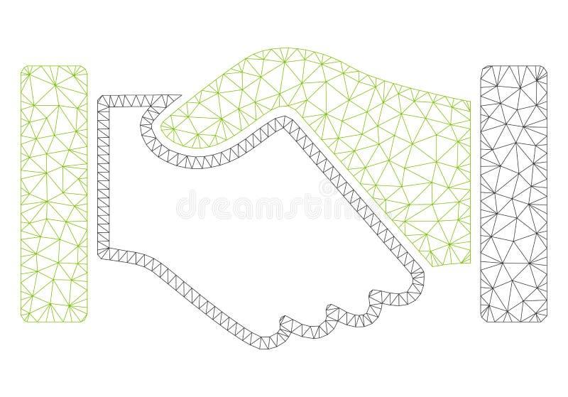 Vecteur polygonal Mesh Illustration de cadre de poignée de main d'acquisition illustration de vecteur