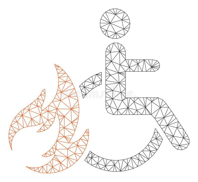 Vecteur polygonal patient Mesh Illustration de cadre de brûlure illustration stock