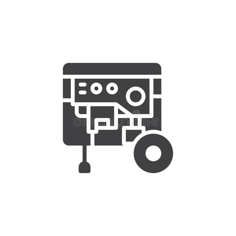 Vecteur portatif d'icône de groupe électrogène illustration libre de droits