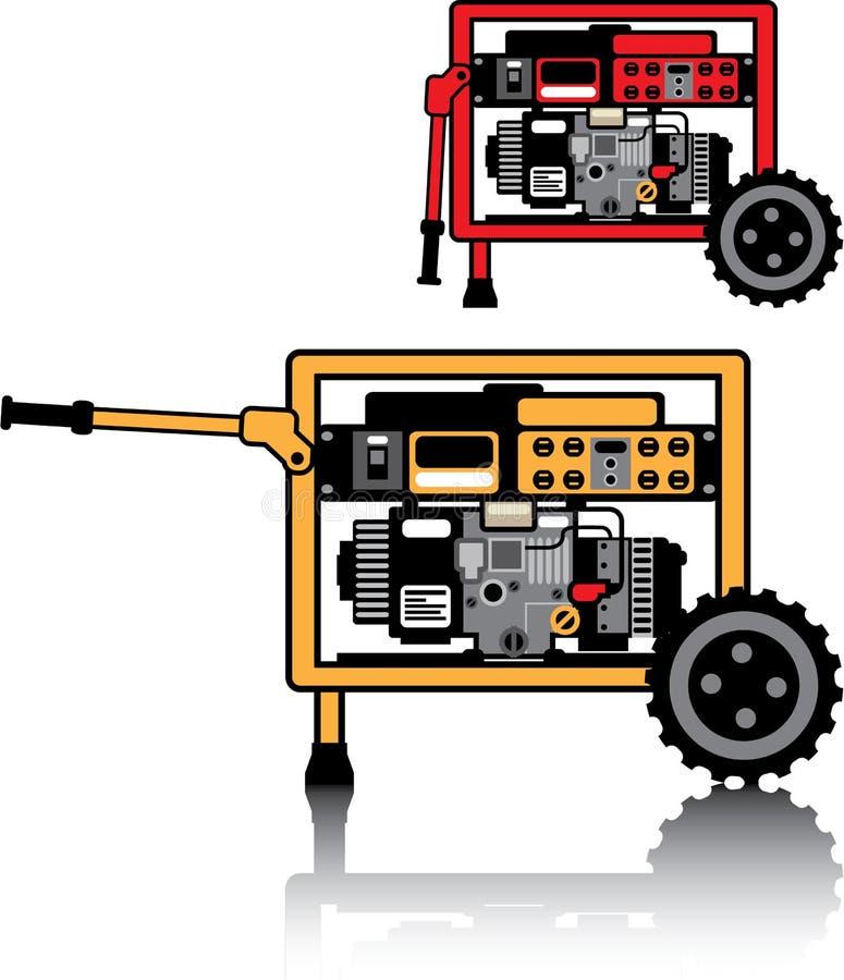 Vecteur portatif de générateur illustration de vecteur