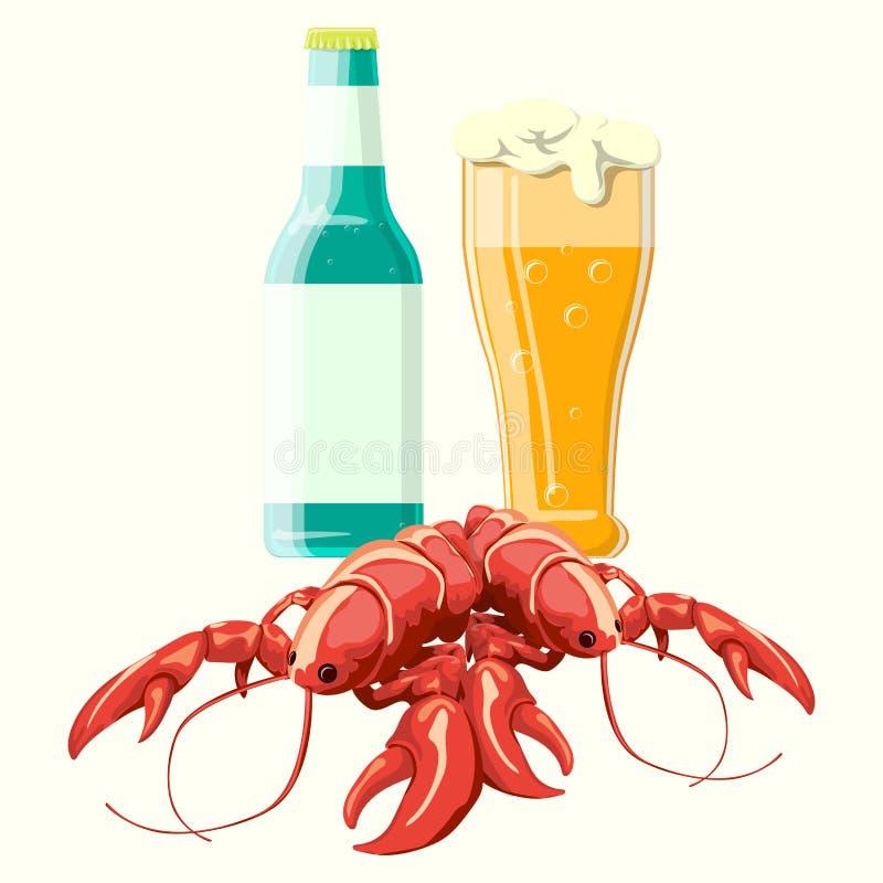 Vecteur pour le reste de la bière 3 articles illustration stock
