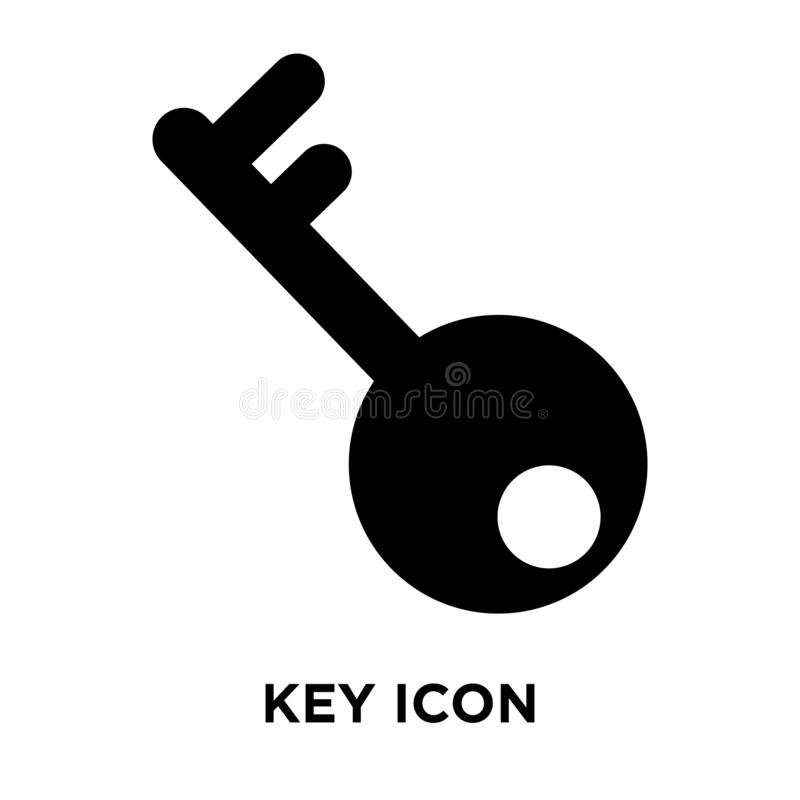 Vecteur principal d'icône d'isolement sur le fond blanc, concept de logo du KE illustration de vecteur