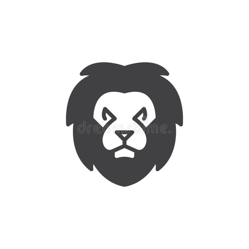 Vecteur principal d'icône de lion, signe plat rempli illustration de vecteur