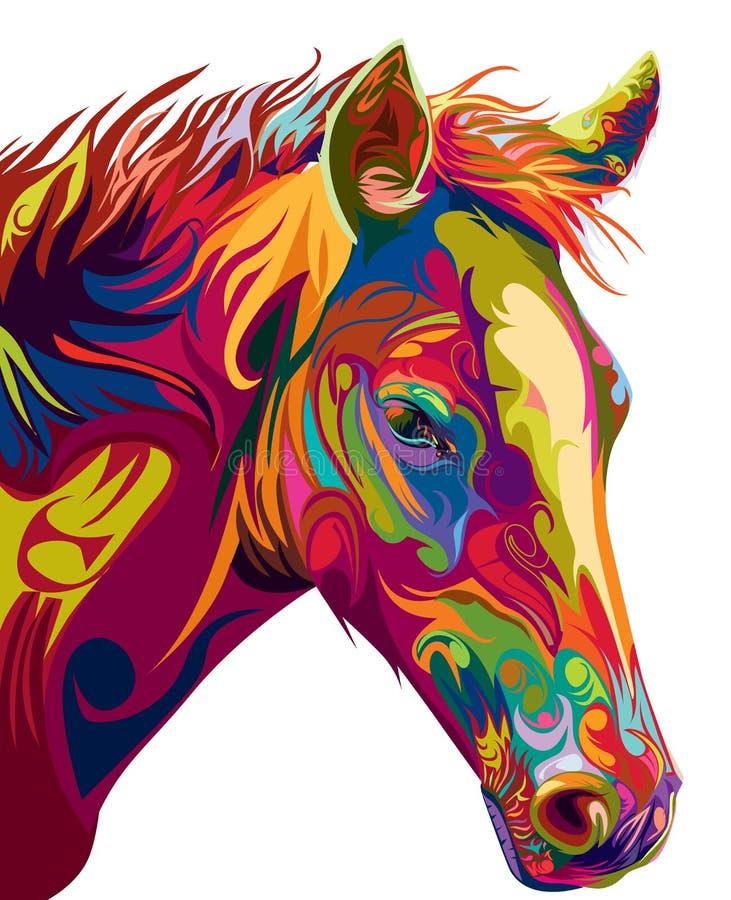 Vecteur principal de cheval illustration de vecteur