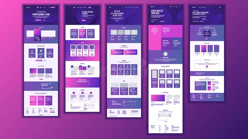 Vecteur principal de conception de page Web Écran d'affaires de site Web Calibre d'atterrissage Idée d'innovation Ingénieur Devic illustration de vecteur